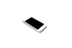 Mobiltelefonen och ilar telefonen i isolerad bakgrund Arkivbild