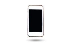 Mobiltelefonen och ilar telefonen i isolerad bakgrund Royaltyfri Bild