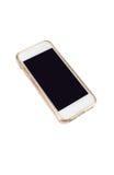 Mobiltelefonen och ilar telefonen i isolerad bakgrund Royaltyfri Fotografi