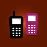 Mobiltelefoner royaltyfri illustrationer