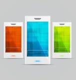 mobiltelefoner ställde in vektorn vit Arkivfoton