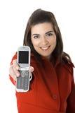 Mobiltelefonfrau Lizenzfreie Stockfotos