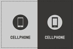 Mobiltelefonillustration Fotografering för Bildbyråer