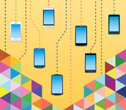 Mobiltelefonkommunikationer Arkivfoton