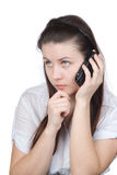 mobiltelefonkvinna Arkivfoton