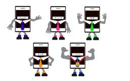 Mobiltelefonmann Stockfotos