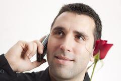 mobiltelefonmanred steg Arkivfoton