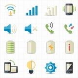 Mobiltelefonprofilsymboler Arkivbild