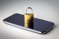 Mobiltelefonsäkerhet fotografering för bildbyråer