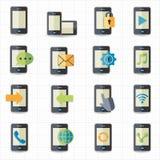 Mobiltelefonsymboler Arkivfoto