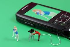 Mobiltelefonunterhaltung lizenzfreie stockfotos