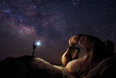 Mobius Arch in Alabama Hills Royalty Free Stock Image
