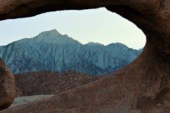 Mobius Arch in Alabama Hills, Sierra Nevada, California, USA Stock Photos