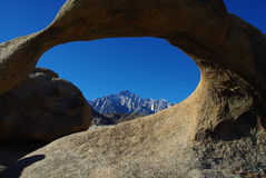 Mobius Arch and Sierra Nevada Royalty Free Stock Photo