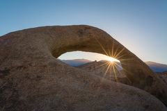 Mobius Arch sun burst Royalty Free Stock Photo