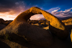 Mobius Arch at Sunset Alabama Hills Stock Images