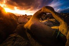 Mobius Arch at Sunset Alabama Hills Royalty Free Stock Image