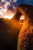 Mobius Arch at Sunset Alabama Hills Stock Photography