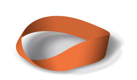 Mobius band with180 degrees rotation Stock Photo