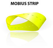 Mobius strip. A continuous surface that has only one side and one edge. Moebius loop has the mathematical property of being non-orientable Royalty Free Stock Photos
