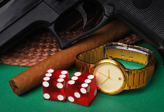 Mobster accessories Royalty Free Stock Photography