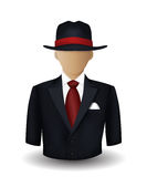 Mobster avatar. On white background Stock Photo