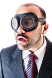 Mobster with goggles Stock Image