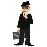 Mobster. Image of a cartoon style mobster Stock Photo