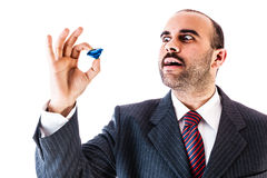 Mobster with sapphire Stock Photo