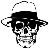 Mobster skull Royalty Free Stock Photography