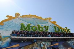 Moby Dick amusement ride Stock Photos