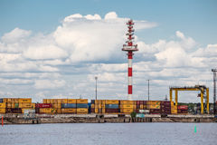 Moby Dik Container-Depot Kronshtadt, Russia Stock Photography