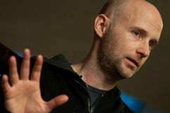 Moby Interview Stock Image