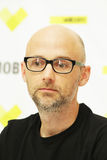 Moby at the press conference in Minsk, June 9, 2011. MINSK, BELARUS - JUNE 9: Moby at the press conference on June 9, 2011 in Minsk, Belarus Royalty Free Stock Images