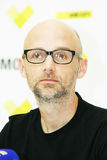 Moby at the press conference in Minsk, June 9, 2011. MINSK, BELARUS - JUNE 9: Moby at the press conference on June 9, 2011 in Minsk, Belarus Royalty Free Stock Photos