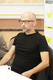 Moby at the press conference in Minsk, June 9, 2011. MINSK, BELARUS - JUNE 9: Moby at the press conference on June 9, 2011 in Minsk, Belarus Stock Photo