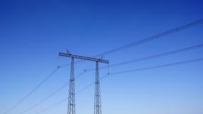 moc linii elektrycznych Obrazy Royalty Free