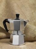 Moca coffee pot Royalty Free Stock Image