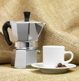 Moca coffee pot Royalty Free Stock Photography