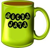 Moca Java de la taza de café Imágenes de archivo libres de regalías