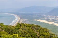 Mocambique beach from Aranhas mountain. Florianopolis, Santa Catarina, Brazil Stock Photography
