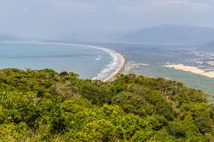 Mocambique beach from Aranhas mountain Royalty Free Stock Image