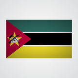 Mocambique flagga på en grå bakgrund också vektor för coreldrawillustration Arkivfoto