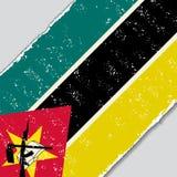 Mocambique grungeflagga också vektor för coreldrawillustration Arkivbild