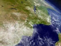 Mocambique och Zimbabwe från utrymme Royaltyfri Bild