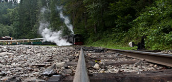 'mocanita' pociąg - Maramures obraz royalty free