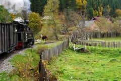 Mocanita sur la vallée de Vaser, Maramures, Roumanie images stock