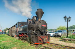 Mocanita the touristic train in Maramures Royalty Free Stock Photography