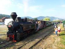 Mocanita - touristic train in Maramures Stock Image