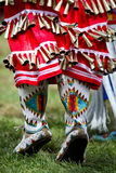 Mocassins. Native american dancer dress at a Powwow Royalty Free Stock Image